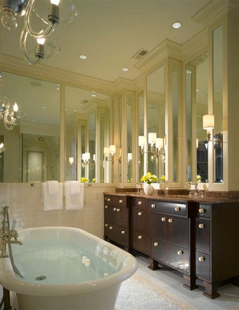 mirror wall in bathroom add style and depth to your home with mirrored walls