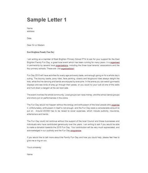 Request Letter For Enrollment Sle Sle Sponsorship Request Letter For Non Profit Organization Ideas 14 Sponsorship Letter