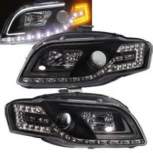Audi A4 B7 Headlights Crazythegod A4 S4 2005 2008 B7 Projector Led R8 Headlight