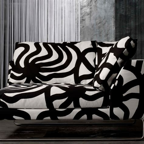 Black And White Upholstery Fabric by Marimekko Joonas Black White Upholstery Fabric