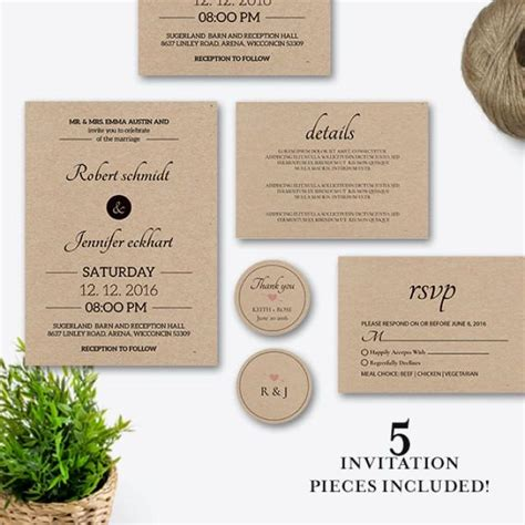 diy rustic wedding invitations templates rustic wedding invitation set wedding invitation template