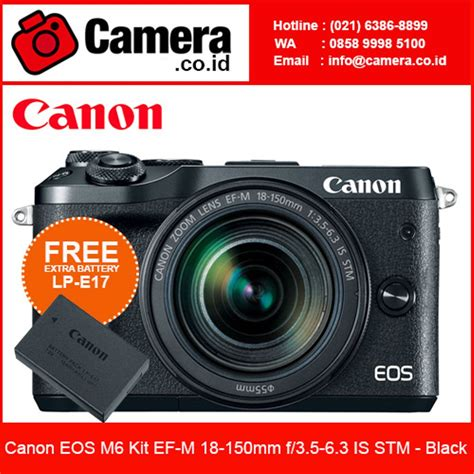 Kamera Canon Eos M Kit jual canon eos m6 kit ef m 18 150mm f3 5 6 3 is stm