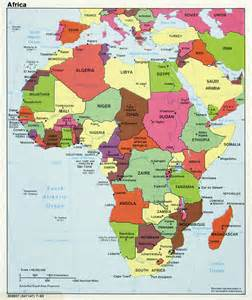 maps of africa and countries political maps