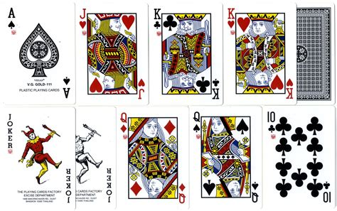 Vegas V.G. Gold 111 plastic playing cards