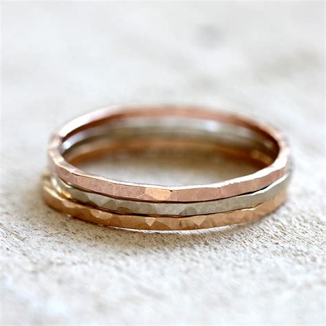 14k solid yellow gold hammered ring praxis jewelry