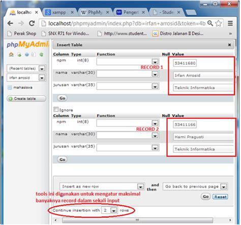 membuat query pada mysql blog bow cara membuat database sederhana dengan phpmyadmin