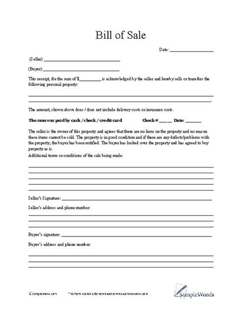 bill of sale contract template bill of sale agreement template bill of sale form emsec info