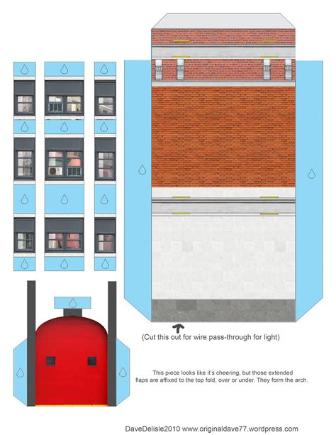 Ghostbusters Papercraft - ghostbusters firehouse papercraft dave s geeky ideas