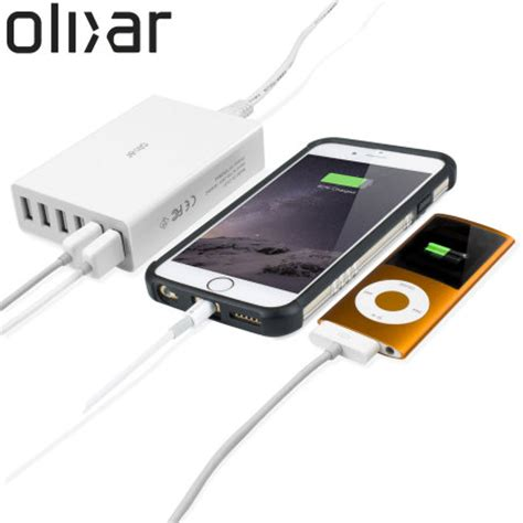 mobile p hub hub olixar 6 ports usb 10a 50w