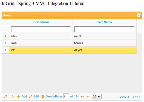 tutorial bootstrap spring mvc krams jqgrid and spring 3 mvc integration tutorial