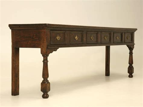 oak sofa or console table for sale at 1stdibs