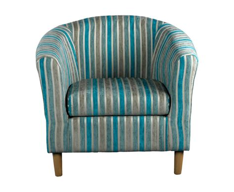Teal Striped Armchair Carey Teal Striped Tub Chair Uk Delivery