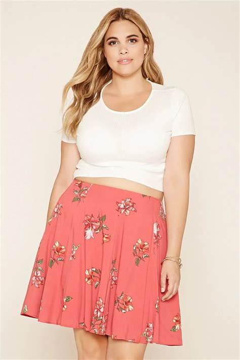 images of plus size fashions women o ver 50 forever 21 a woven mini skirt with an elasticized waist