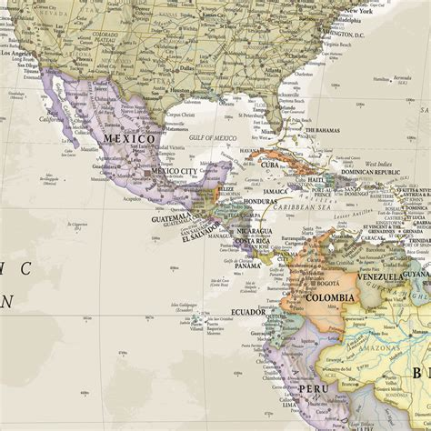 Classic World Map Mural Maps - classic world map mural by maps international