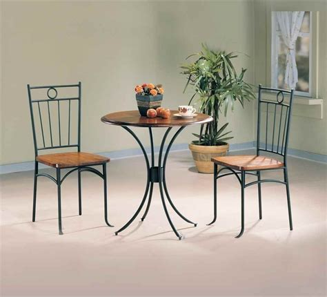 dining set 3 30 quot bistro table metal wood
