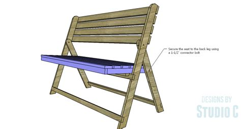 folding bench seat diy plans to build a folding bench