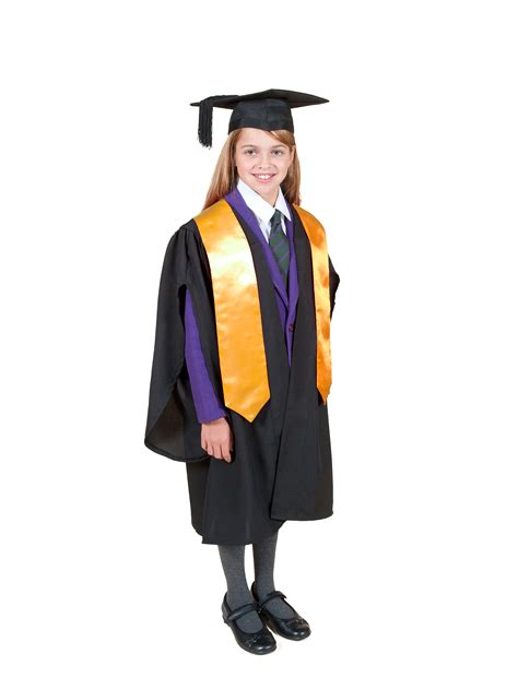 And Gown by Traditional Primary School Graduation Gown Cap And Stole