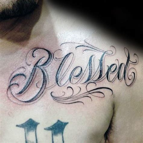 blessed tattoo on chest 20 superb blessed tattoos