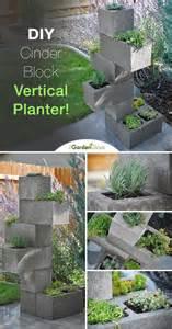 hometalk create a cinder block vertical planter