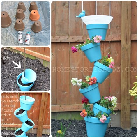 Diy Flower Tower Planter by 15 Cool Diy Flower Tower Ideas