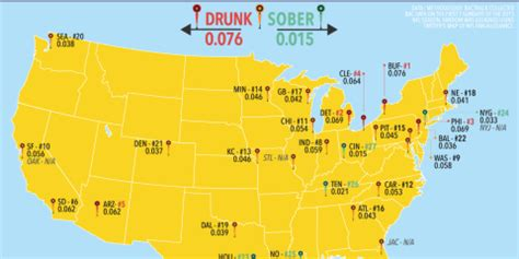 what football team has the most fans this map shows which nfl teams have the drunkest fans find