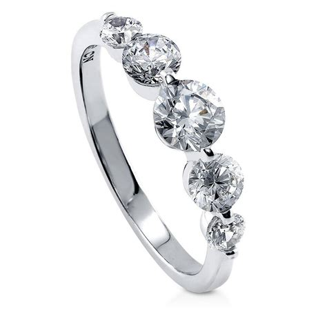 berricle sterling silver cz 5 promise fashion ring 0