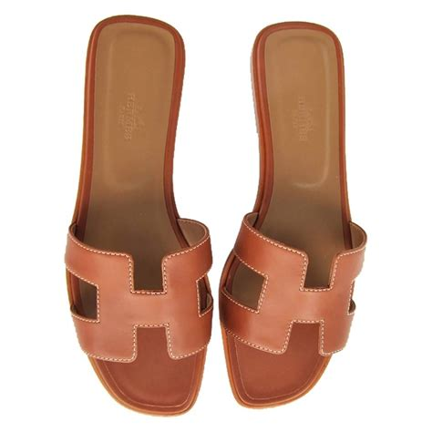 hermes oran sandals hermes gold oran box leather sandals shoes size 40 or 3 9