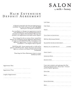 Hair Extension Form Fill Online Printable Fillable Blank Pdffiller Hair Extension Consultation Form Template