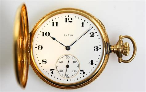 vintage antique elgin 14k solid gold pocket