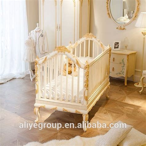 Baby Cribs Luxury Wy108 Luxury Golden Baby Bed Crib Wooden Design Royal Baby