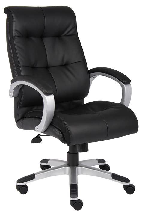 Executive Chair B8771s Bk High Back Black Leatherplus Executive