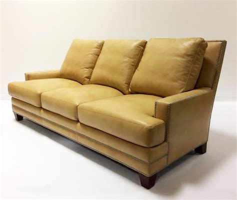 Henredon Leather Sofa Henredon Leather Sofa Traditional Living Room Other Metro By Decadent Avenue