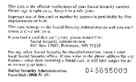social security card template side social security history