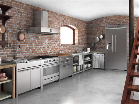 stainless steel kitchen design sintesi modulo cucina freestanding by steel