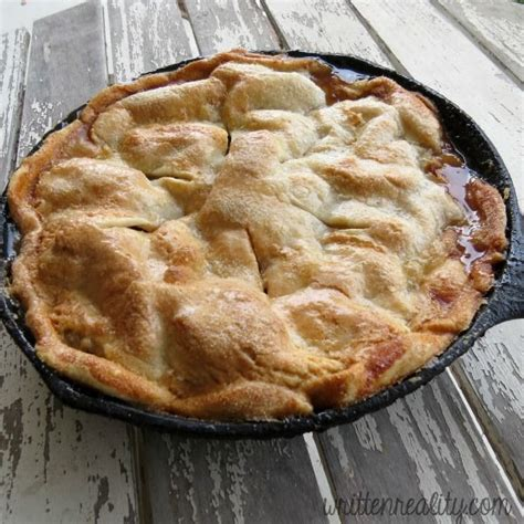 easy skillet apple pie recipe skillets sweet and