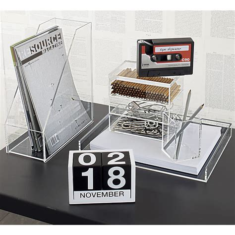 Lucite Desk Accessories Custom Acrylic Desktop Organizer Buy Acrylic Desktop Organizer Clear Acrylic Organizer Custom