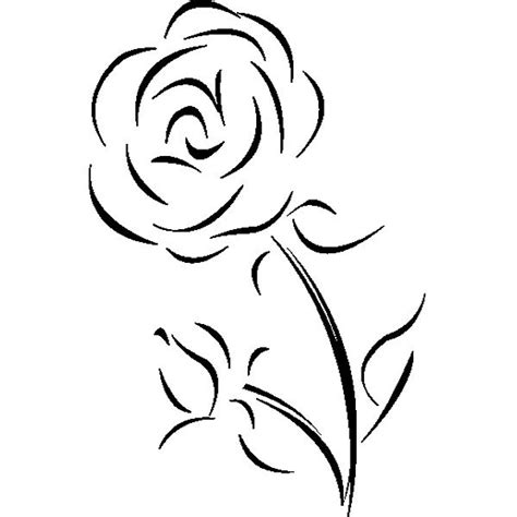 simple rose tattoo outline 22 best single flower tattoo outlines images on pinterest