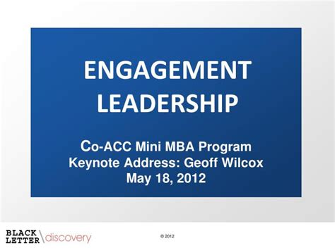 Mini Mba Curriculum by Ppt Engagement Leadership Powerpoint Presentation Id