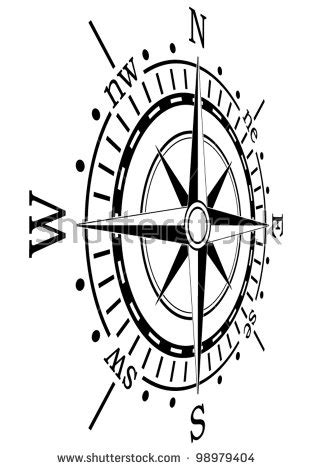 Shaped Marine Compass With Magnetic Declanation Co Promo compass stock illustration 121950310