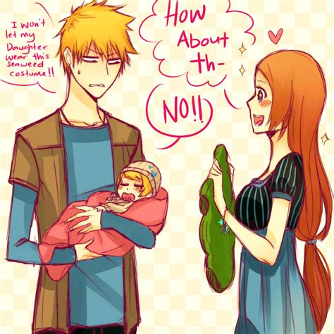 anime couple having a baby ichihime baby clothe by orihichan ichigo orihime fan