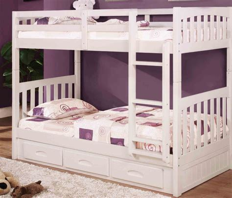 white bunk beds makes your kids room look fab jitco