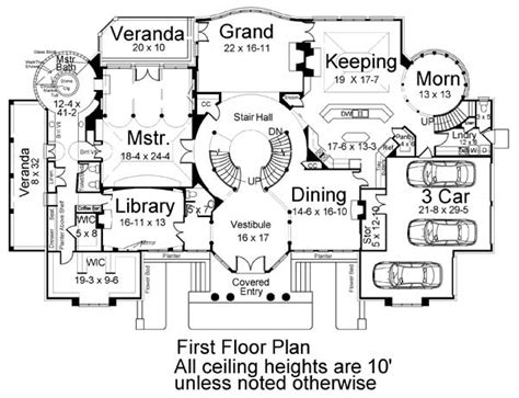park place floor plans park place 6034 5 bedrooms and 5 baths the house designers