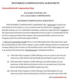 compensation agreement template 12 best images of salary agreement contract sample executive compensation september 2015
