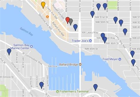 seattle microbreweries map seattle is now home to 60 breweries more on the way