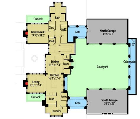castle green floor plan castle house plan with six master suites for a hillside