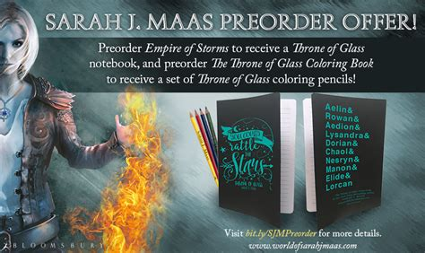empire of storms throne sarah j maas empire of storms pre order offer