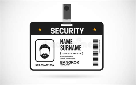 security id card set vector design illustration stock