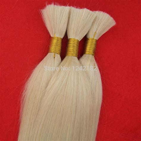 Remy Human Hair Bulk For Braiding Bleach Blonde Human Hair Extensions | remy malaysian virgin hair straight human hair bulk for