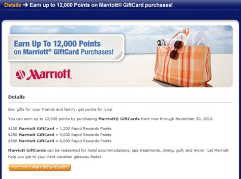 Marriott Gift Cards Promotion - southwest rapid rewards points for marriott gift card purchases loyaltylobby
