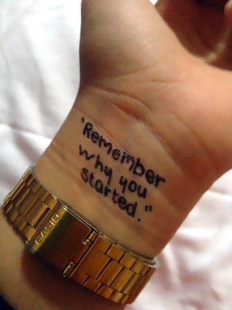 remember   started tattoo idea